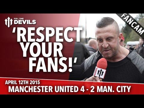 'Respect Your Fans' | Manchester United 4 Manchester City 2 | FANCAM