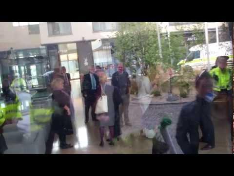 Occupy Galway greet Enda Kenny @ IBEC Breakfast
