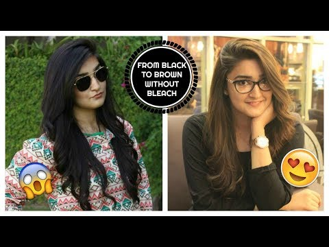 HOW I DYED MY HAIR FROM BLACK TO BROWN WITHOUT BLEACH   DIY