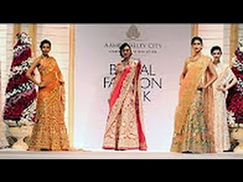 Celebrity Models Show Case The Exquisite Gown Collections at India Bridal Fashion Week 2013 Part 148