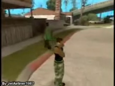 loquendo  J.C.L.C- carl johnson jugando al counter strike (gta san andreas)
