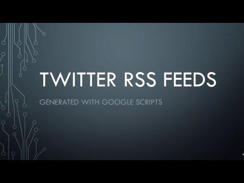 webonline twitter rss feed