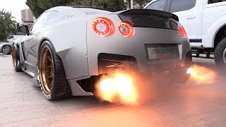 Download 1750HP Nissan GT-R FROM HELL!! Start, Revs & FLAMES! 3Gp Mp4