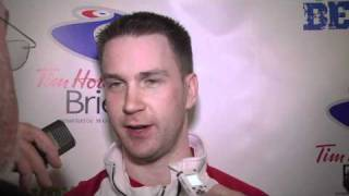 2011 Tim Hortons Brier - Draw 8 Media Scrum