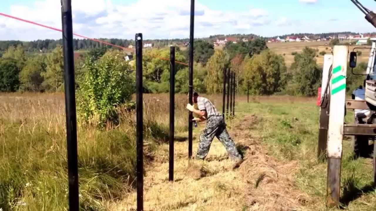Забор на винтовых сваях своими руками 997