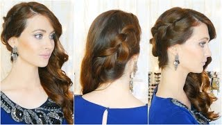 Peinado elegante de fiesta/ocasiones especiales. Elegant and Easy Hairstyle for parties| Lizy P