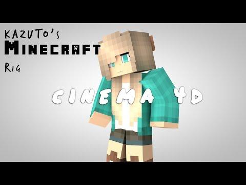 Cinema 4D - KazutoTheGamer's Minecraft Rig V6 Showcase!