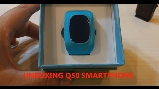 Unboxing & Using the Q50 Smart Watch GPS Tracker for Kids - [In English]