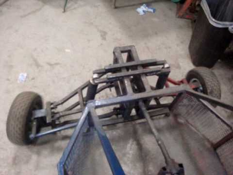 Full Suspension Snowmobile Powered Go Cart Update 2 Youtube