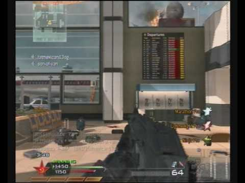 Mw2: Throwingknife headshot!