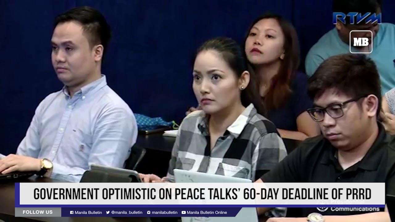 Government optimistic on peace talks' 60 day deadline of PRRD
