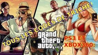 Tous les codes de triche de Gta5 [PS3 et XBOX360]!