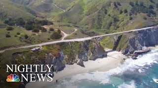 Landslide Buries Stretch Of Famous Hwy. 1 At California's Big Sur | NBC Nightly News