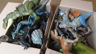 Jurassic World Dinosaur Toy Box VS Schleich Dinosaur Toy Box - Real Dino Toys For Kids 공룡 박스 티라노