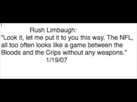 Limbaugh: NFL Looks LIke Bloods & Crips, Without Weapons