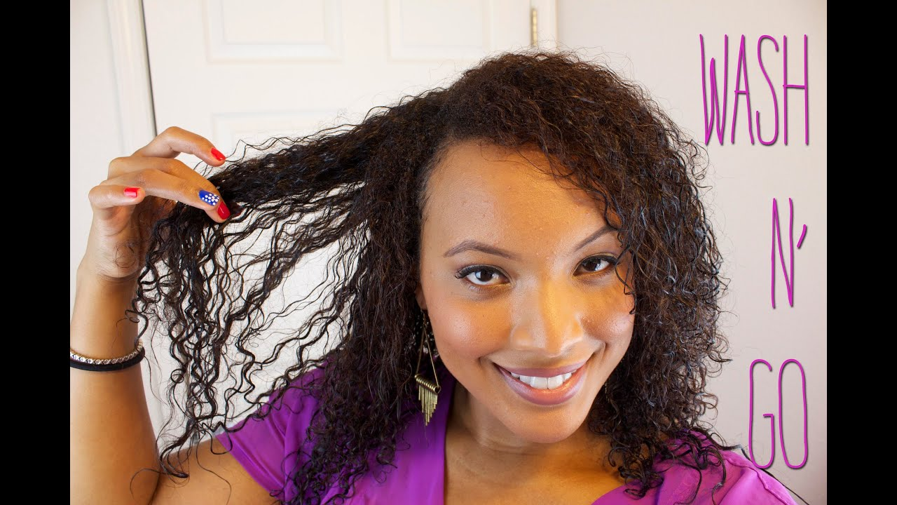 Wash And Go On Transitioning Hair Youtube