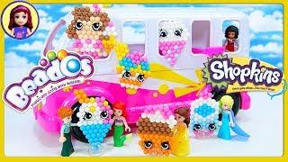 Beados Shopkins Ice Cream Truck Season 7 DIY Craft with Lego Disney Princesses