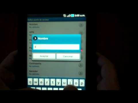Configurar 3G Samsung Galaxy Tab.