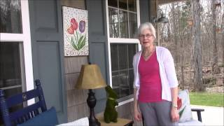 Spring Porch Decorating with a Tulip Theme