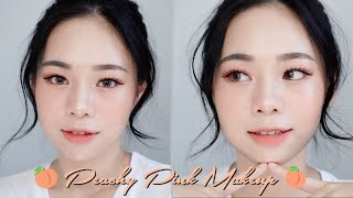 SUMMER PEACHY PINK LOOK | KOREAN MAKEUP TUTORIAL