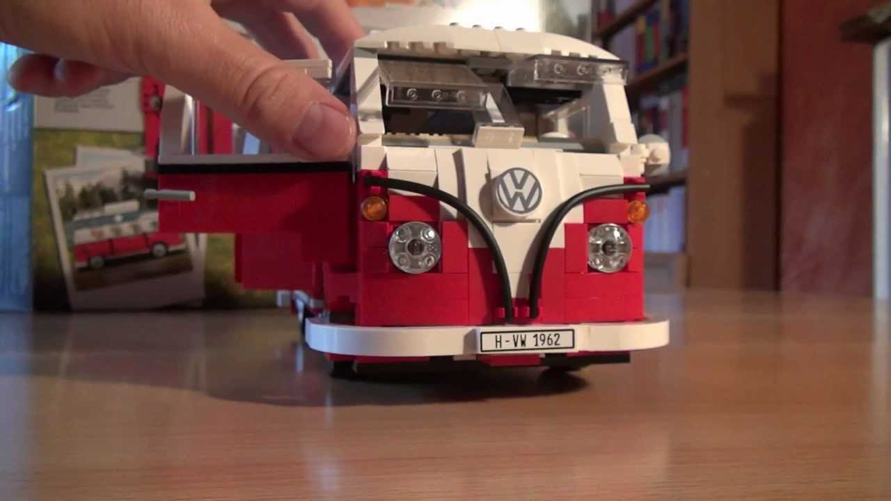 test lego set  volkswagen vw bus  campingbus review youtube