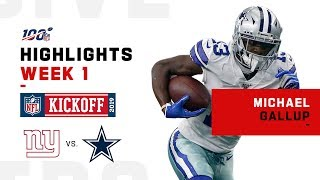 Michael Gallup's 158-Yd Day | NFL 2019 Highlights