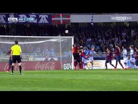 Real Sociedad - Barcelona Highlights HD 22.02.2014