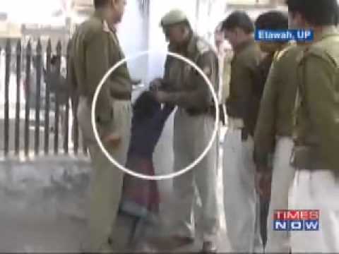 Cops Assaulting A Six Year Old Girl In Etawah (uttar Pradesh) video