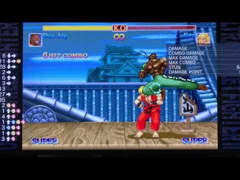 【ウル2】パッドでマシンガンアッパーの連続技を練習してみた Ultra Street Fighter 2