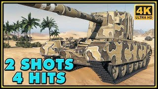 FV4005 Stage II - 2 Shots, 4 Hits - 10K Damage - World of Tanks Gameplay - 4K Ultra HD Video