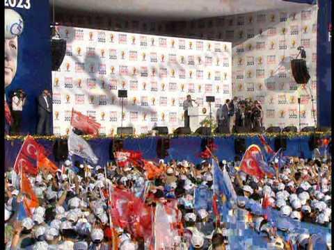 AK Parti istanbul Kazlıçeşme Mitingi Recep Tayyip Erdoğan Full Kalite LOGOSUZ 1/7