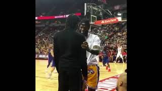 LeBron James meet Brandon Ingram at Lakers Summer League
