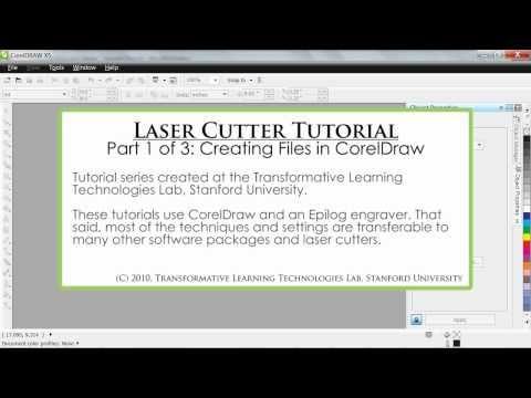 Laser Cutter Tutorial - FabLab@School - Part 1 of 3: Creating Files in CorelDraw