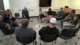 Police Officers Learn Meditation To Tackle Job Tension   NBC Nightly News