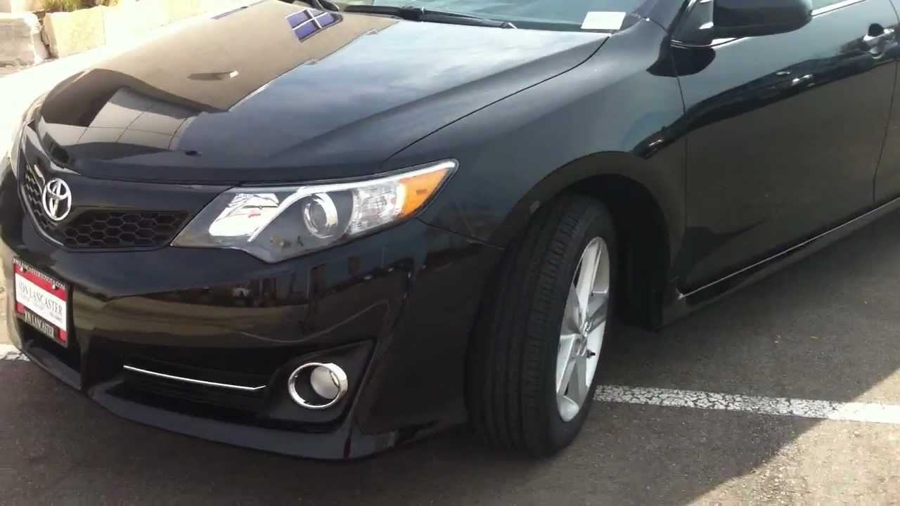 2012 Toyota Camry Se Attitude Black Outside Walk Around