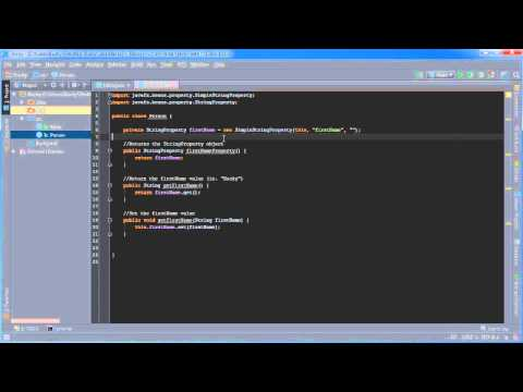 JavaFX Java GUI Tutorial - 28 - Properties