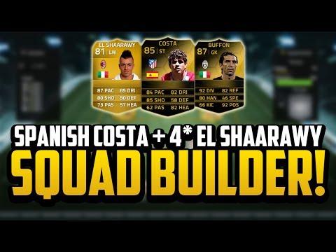 SPANISH DIEGO COSTA + 4* SKILL EL SHAARAWY SQUAD BUILDER! | FIFA 14 Ultimate Team