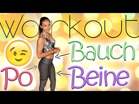 Bauch Beine Po Training für Zuhause - 30 Min Workout - Ohne Geräte - Einfach mitmachen - 20 Übungen