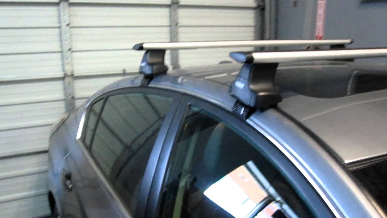 Nissan Altima With Thule 480r Aeroblade Base Roof Rack By