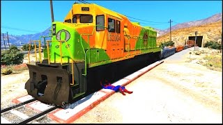 TRAINS CRASHES with COLORS CARS - Cartoon for Kids