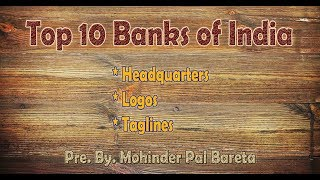 Taglines, Logos, Headquarters of Top 10 Banks of India