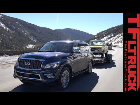 2015 Infiniti QX80 takes on the Grueling Ike Gauntlet Towing Test Review