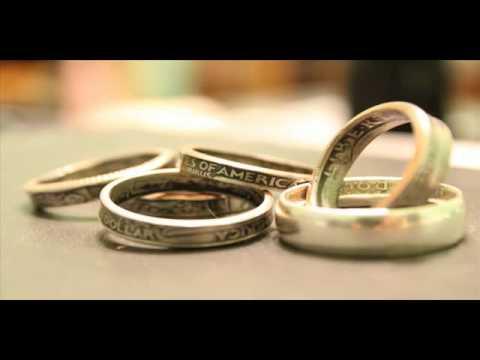 Как сделать кольцо из монеты! How to make a ring of coins!