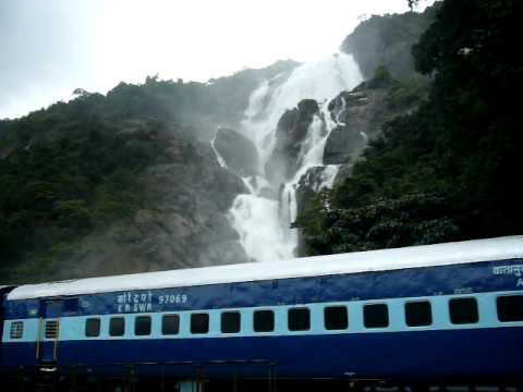 Goa Train Waterfall Dudhsagar Waterfalls Train