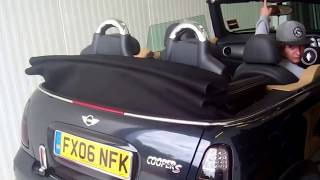 BMW Mini / cooper convertible soft top hood operation and problem solving