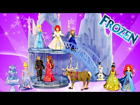 New Frozen Musical Ice Castle Toy Playset Elsa Sings Let It Go Song Disney Princess Magiclip Wedding video
