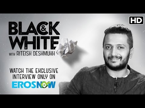 Catch Riteish Deshmukh On Eros Now Black & White - The Interview