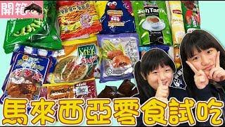 【開箱】第一次試吃馬來西亞的零食[NyoNyoTV妞妞TV玩具]