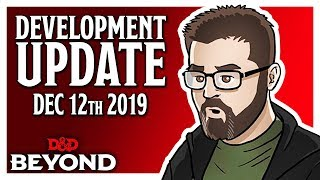 D&D Beyond Dev Update - Encounter Tracker Demonstration & More