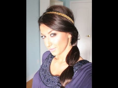 Princess Jasmine Inspired Holiday Hair